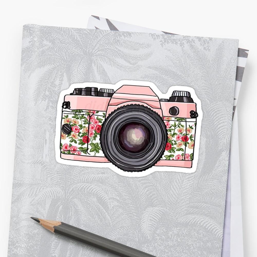 Blumenkamera Sticker