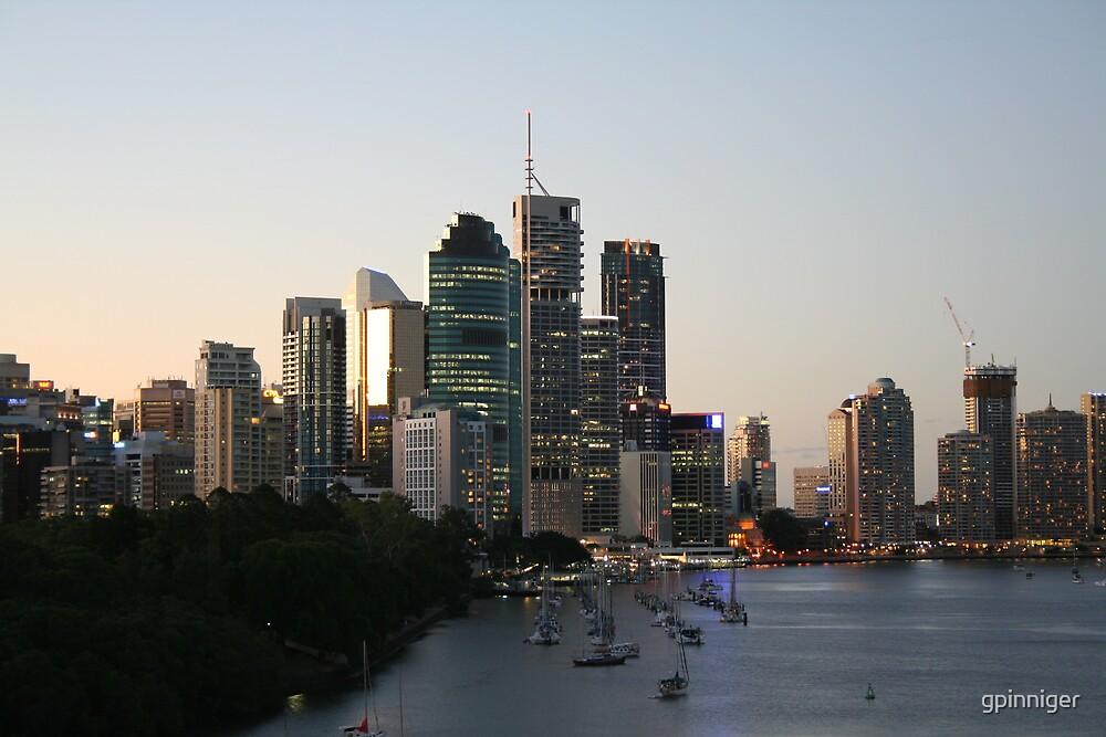 Brisbane at dusk by gpinniger