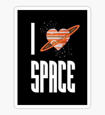 I Heart Space Sticker