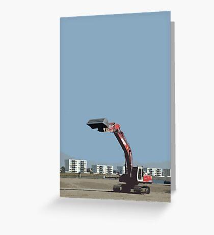buldozer Greeting Card