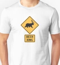Bear Deer Beer Crossing Unisex T-Shirt