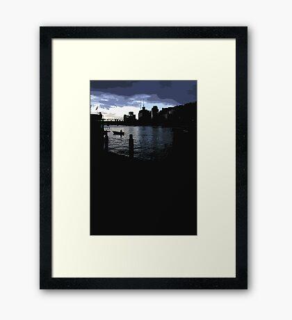 darling harbour dusk Framed Print