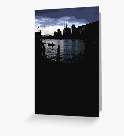 darling harbour dusk Greeting Card