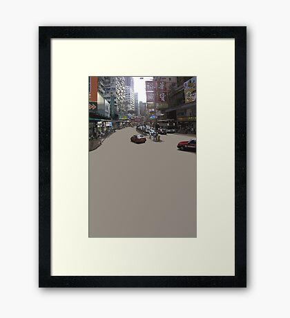 HK asphalt Framed Print