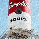 Campbell's Soup Water Tower in Faux Oil by Rob Chiarolli