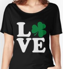 St Patrick's Day LOVE Shamrock Irish Women's Relaxed Fit T-Shirt