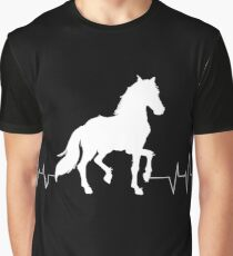 Horse Heartbeat - Horse lovers Graphic T-Shirt