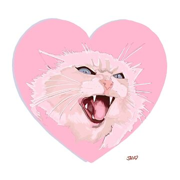 I love you so much! Valentines cat drawing. by loveandmonsters