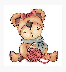 Crochet Teddy Bear Photographic Print