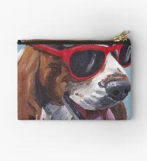 Basset hound dog dog Art by Lee H Keller Studio Pouch