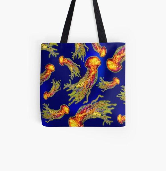 Jellyfish Dance All Over Print Tote Bag