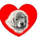Great Pyrenees Heart by Patricia Reeder Eubank