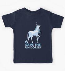 Speichere die Einhörner Kinder T-Shirt