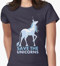Save the Unicorns Women's Fitted T-Shirt