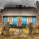 Blue cottage by Elisabeth van Eyken