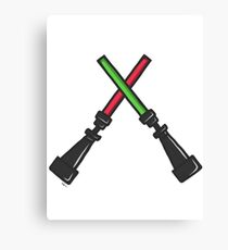 SW Lightsaber - Sith and Jedi/Red and Green Canvas Print