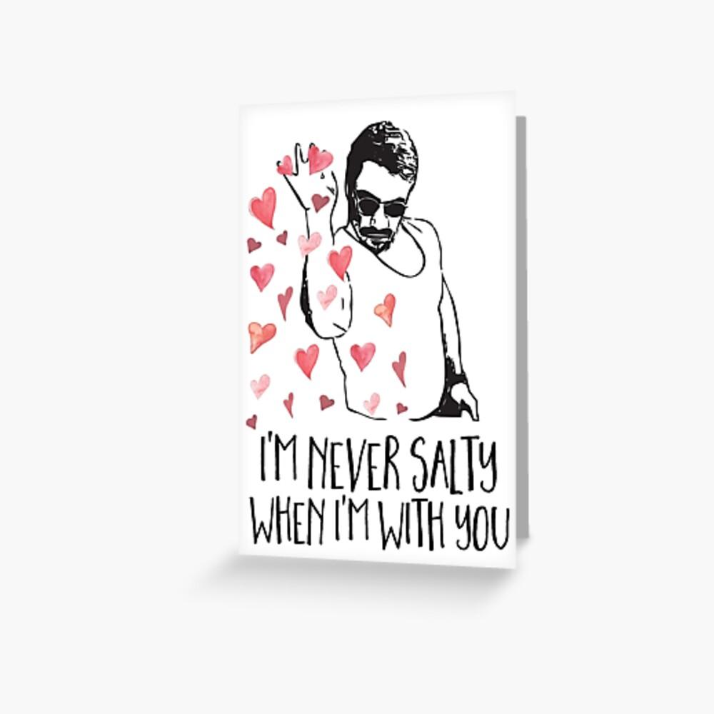 Salz Bae Valentines Day Karte, Salz Bae Valentine, Salz Guy, lustige Meme Valentine Grußkarte