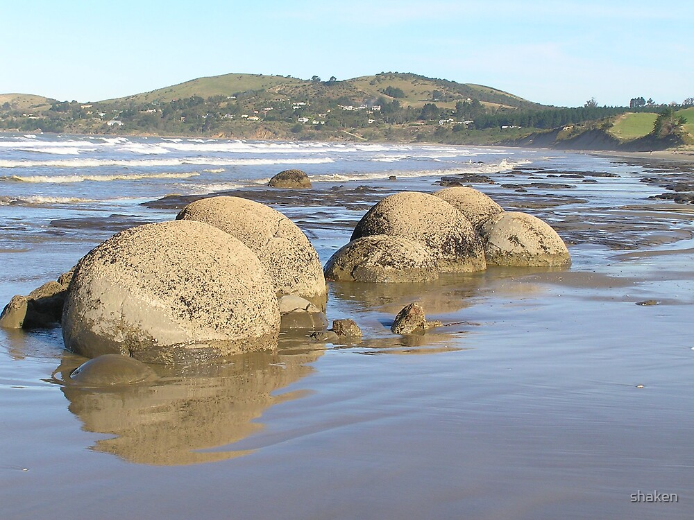 Boulders by shaken