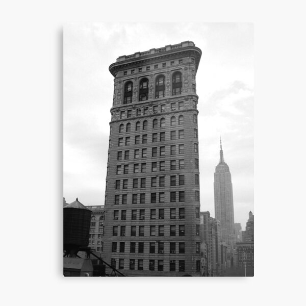 The Flat Iron Building and the Empire State Building Metal Print