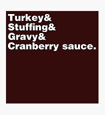 Thanksgiving Helvetica Photographic Print