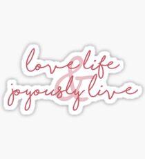 Joyously Live Sticker