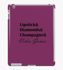 Lipstick & Video Games iPad Case/Skin