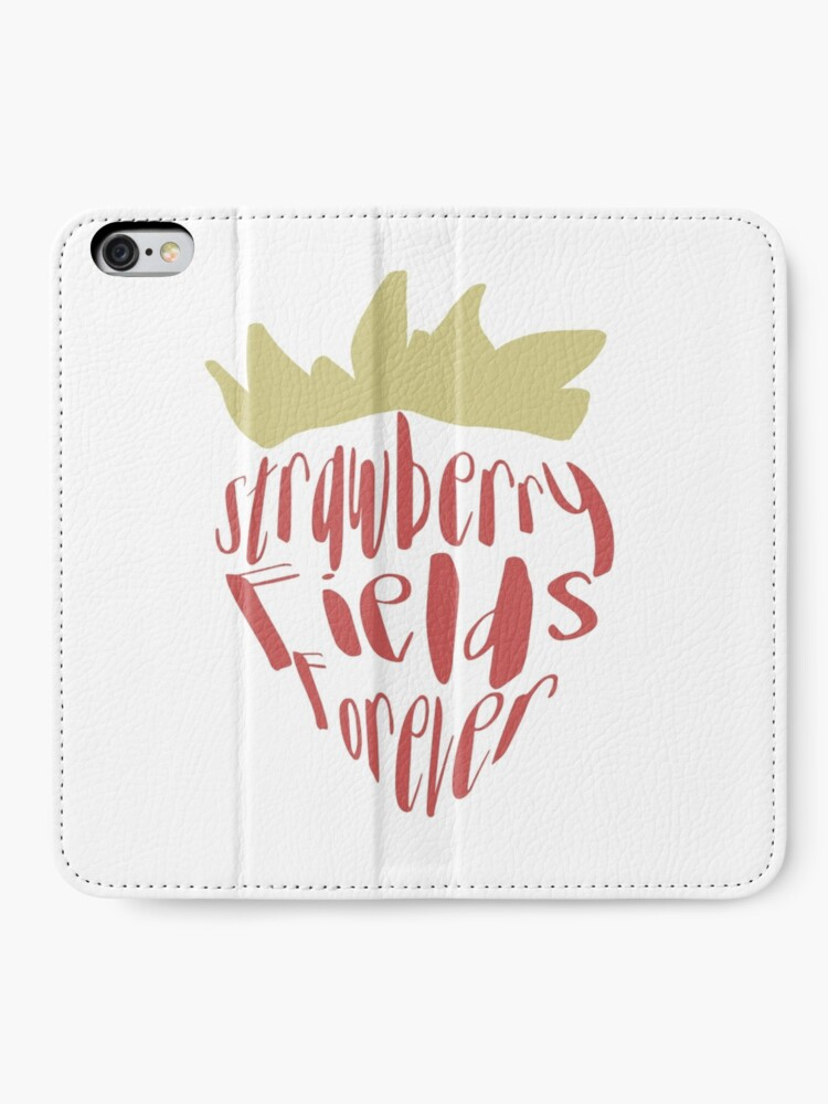 Alternate view of Strawberry Fields Forever iPhone Wallet