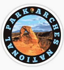 Arches National Park circle Sticker