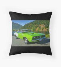 Green 340 Cuda Throw Pillow