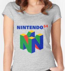 Nintendo 64 logo Women's Fitted Scoop T-Shirt