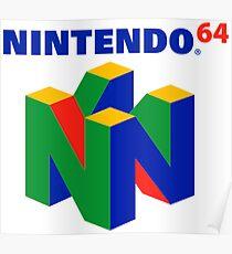 Nintendo 64 logo Poster