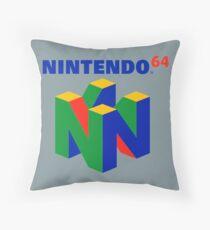 Nintendo 64 logo Throw Pillow
