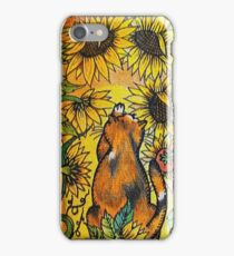 Cat Among the Sunflowers iPhone Case/Skin