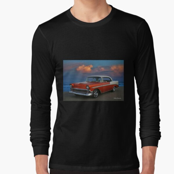 1956 Chevy Belair HDR Long Sleeve T-Shirt
