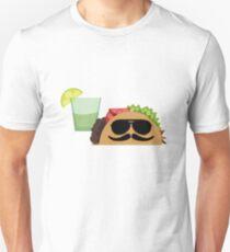 It's Taco Time T-Shirt - Funny Sunglasses Burrito Mexican Unisex T-Shirt