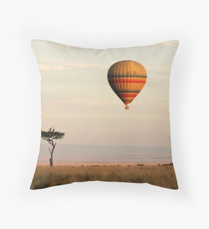 Dawn flight over the Masai Mara Throw Pillow