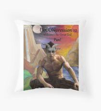 DeCONpression 12 Welcomes Pan Throw Pillow