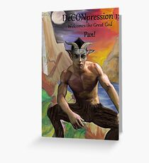 DeCONpression 12 Welcomes Pan Greeting Card