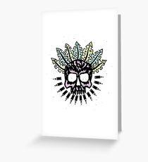 Jungle Bullet Skull Greeting Card