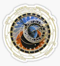 Astronomische Uhr Sticker