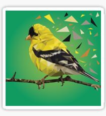 Geometric Gold Finch Sticker