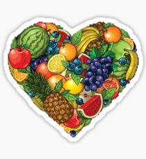 Fruit Heart  Sticker