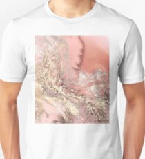 Rose Gold Marble Unisex T-Shirt
