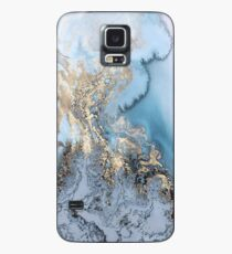 Blue Gold Marble Case/Skin for Samsung Galaxy