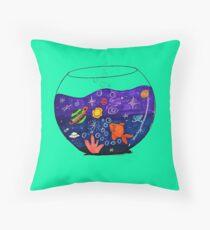Space Fish Throw Pillow