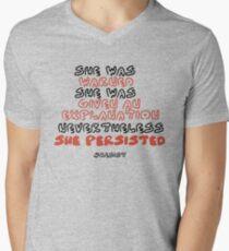 She Persisted Men's V-Neck T-Shirt