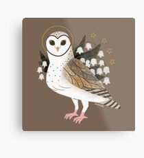 Familiar - Barn Owl Metal Print