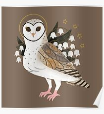 Familiar - Barn Owl Poster
