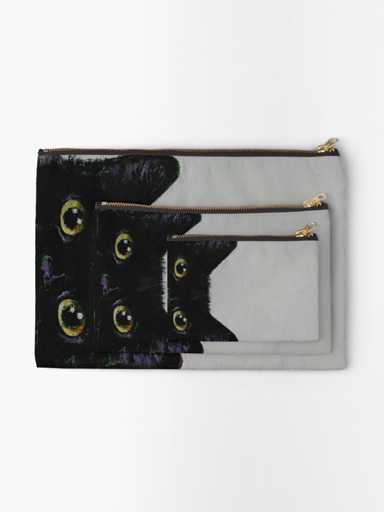Alternate view of Black Cat Zipper Pouch