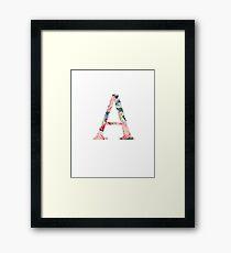 A/Alpha Framed Print